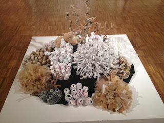 Mary Ellen Croteau - Arte con bolsas plásticas tejidas - Corales