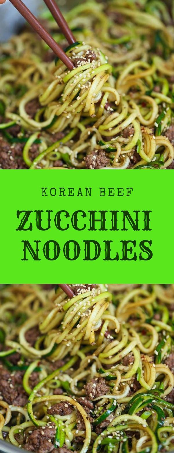 KOREAN BEEF ZUCCHINI NOODLES #beef #noodles #pasta