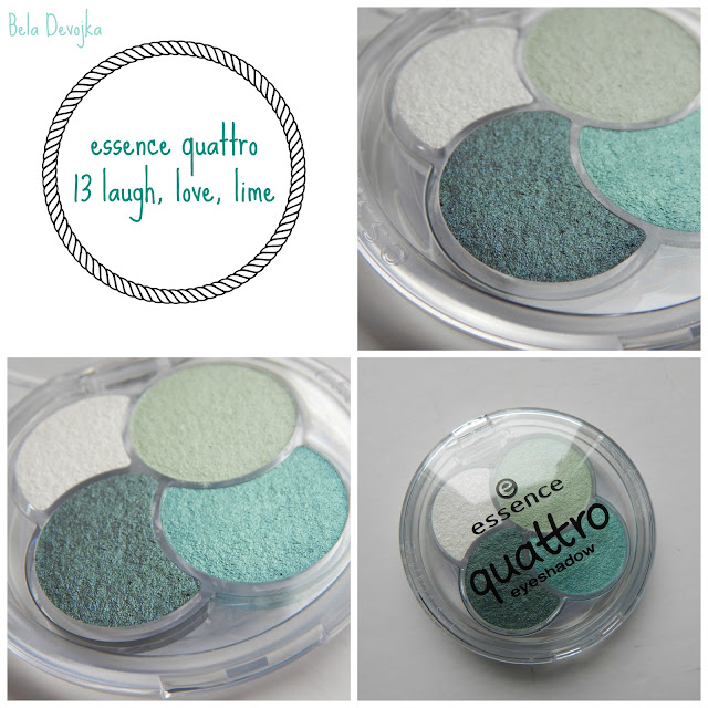 essence quattro eyeshadow laugh, love, lime