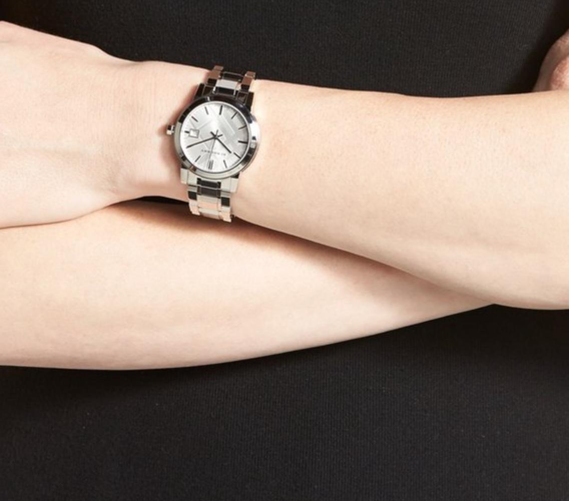 Burberry Medium Check Stamped Bracelet Watch 34mm My