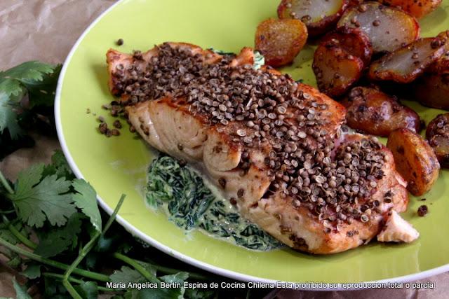 Salmon Con Costra De Cilantro