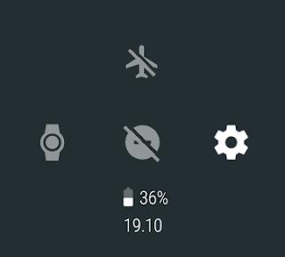 Android Wear 2.0 belka ze skrótami
