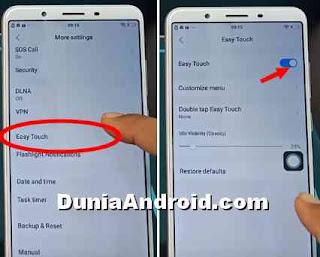 Cara Aktifkan tombol Easy touch Vivo y71