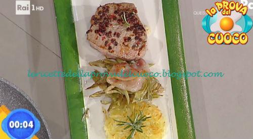 Girello lardellato con rosti di patate ricetta Fava da Prova del Cuoco