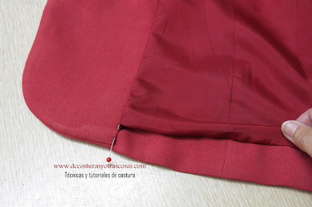 método clásico de forrar una chaqueta