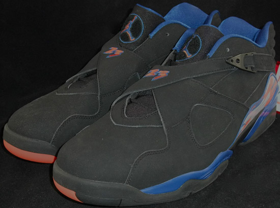 the best attitude 81af4 5b702 This Air Jordan 8 Retro Low comes in a black, orange flash and blue ribbon  colorway. A player exclusive colorway made specifically for Jared Jeffries.