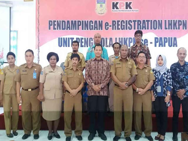 Tingkat Pelaporan Harta Kekayaan Pejabat di Papua Rendah