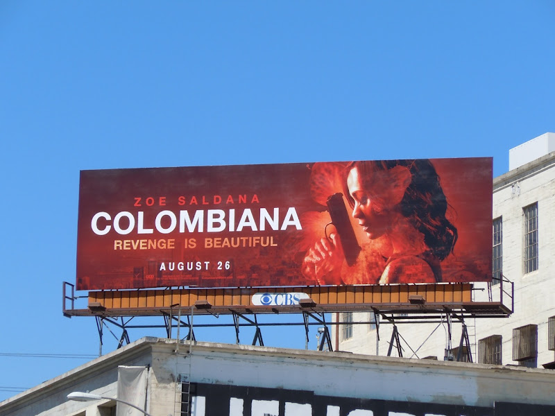 Zoe Saldana Colombiana billboard