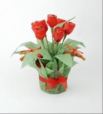 como hacer tulipanes de papel