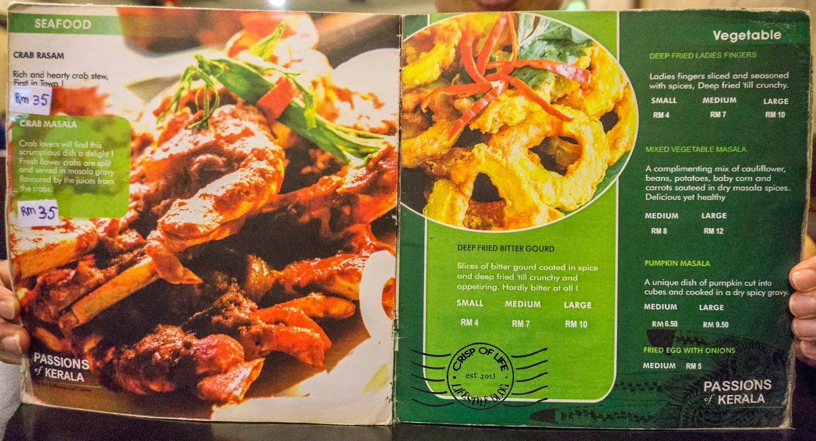 Passions of Kerala Indian Food New World Park Banana Leaf Penang
