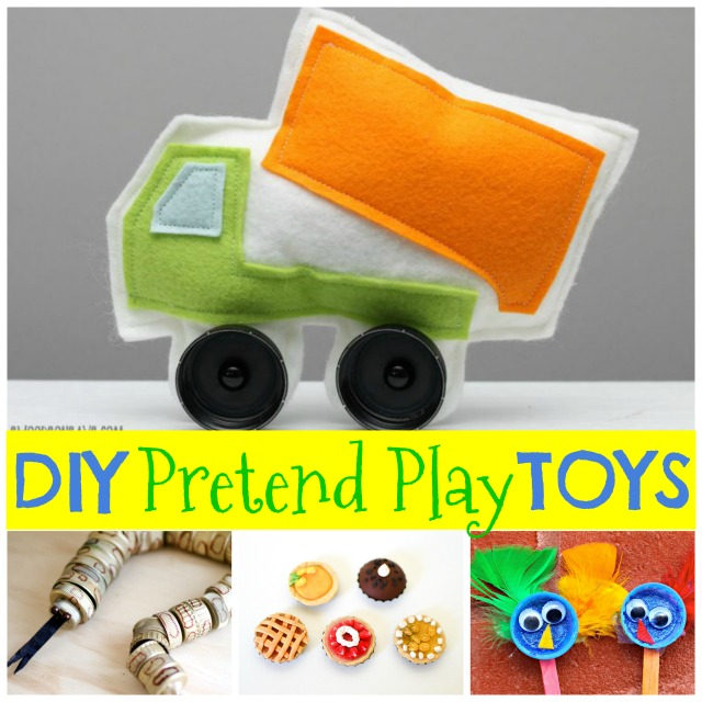 Make DIY pretend toys from bottle caps!