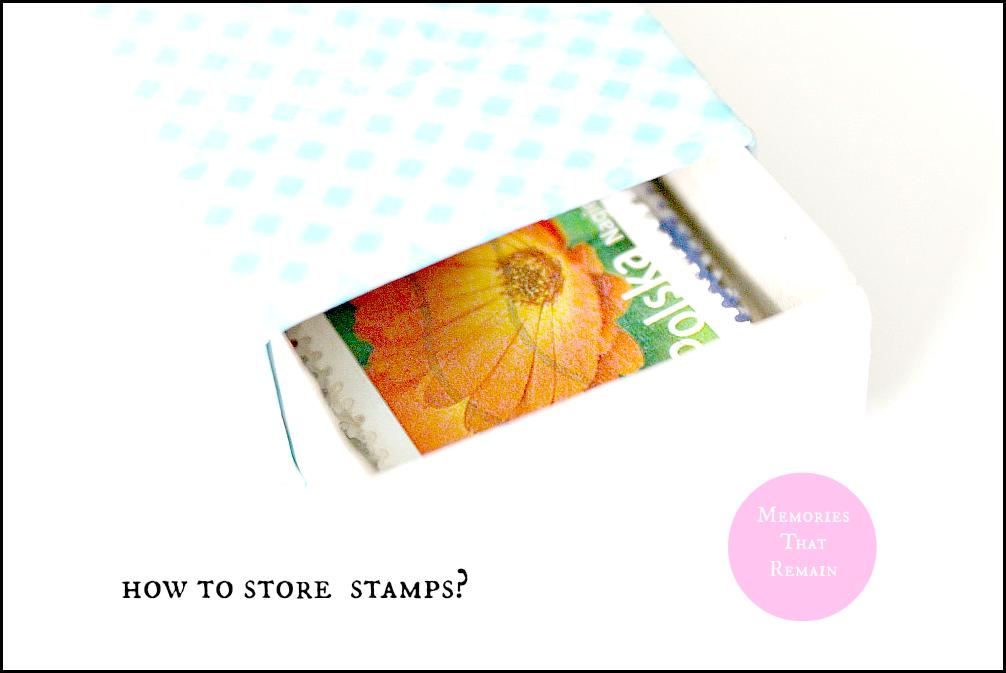 znaczki w pudełku