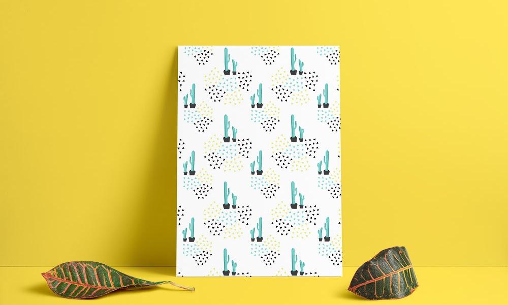 Monthly makers geometri : kaktus mönster