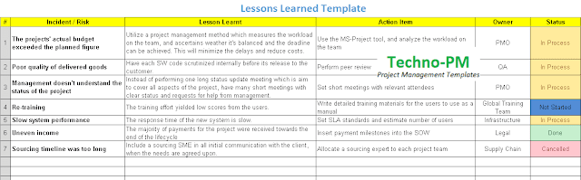 lessons learned template, lessons learned template excel