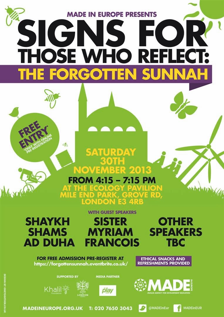 event launching the green up mosque toolkit and the forgotten sunnah london