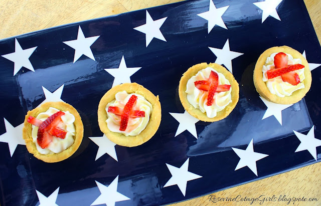 #4thOfJuly #Recipe #IndependenceDay #4thofJulyfood #dessert #strawberries #tarts