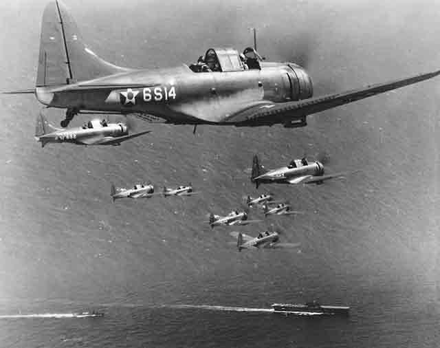Douglas SBD-2 Dauntless bombers, 27 October 1941 worldwartwo.filminspector.com