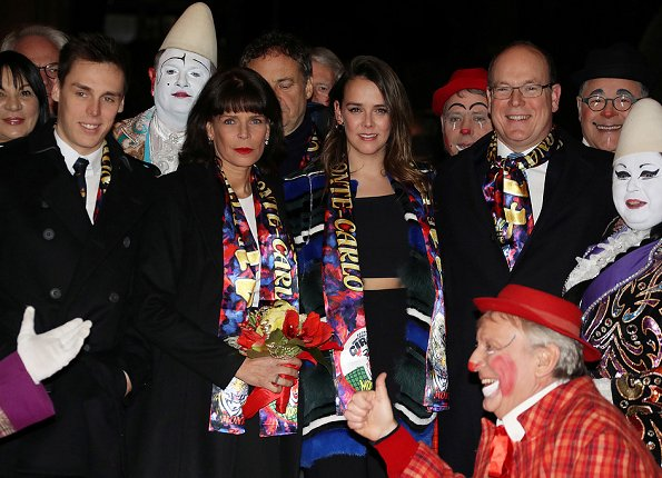 Prince Albert, Princess Stephanie, Pauline Ducruet, Princess Charlene at Monte-Carlo International Circus Festival