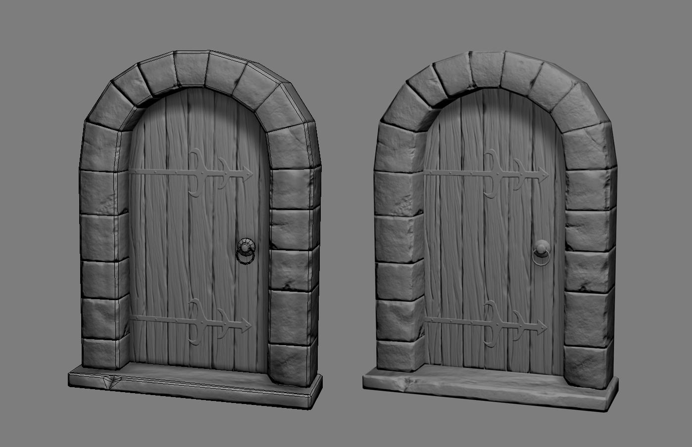 Medieval Door Polycount