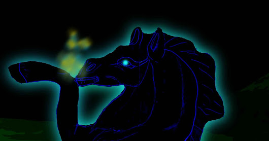 NOW THATS A HORSE OF A DIFFERENT COLOR PART I: The Blue Flame Pooka