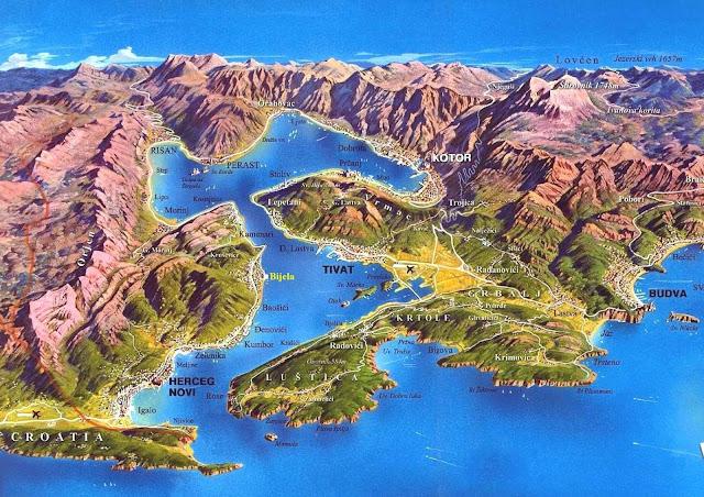 Bahía de Kotor plano