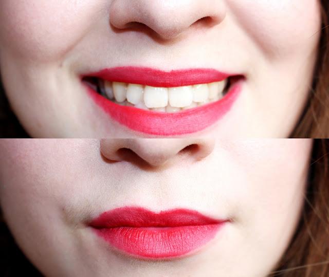 swatch cherry lipstick kiko
