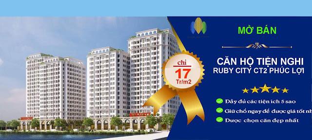 Dự án chung cư Ruby City Ct3 Long Biên