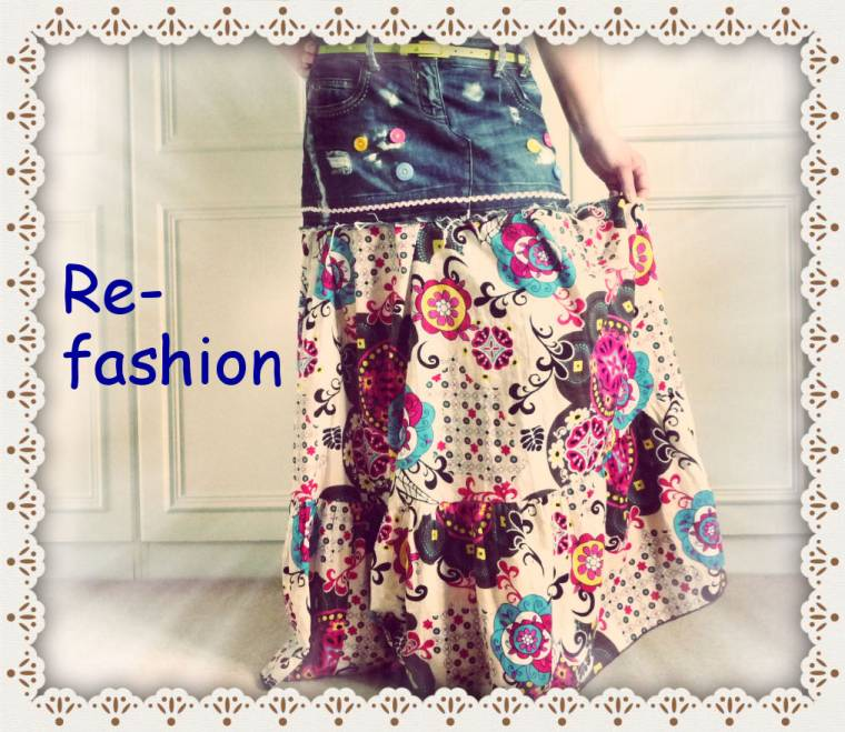 The Re-fashioned Skirt: Up-cycle And Re-fashioned