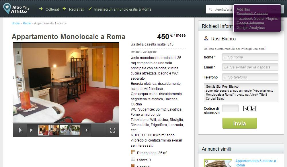 Gro es studio m bliert von 34 for Appartamento monolocale di 600 m