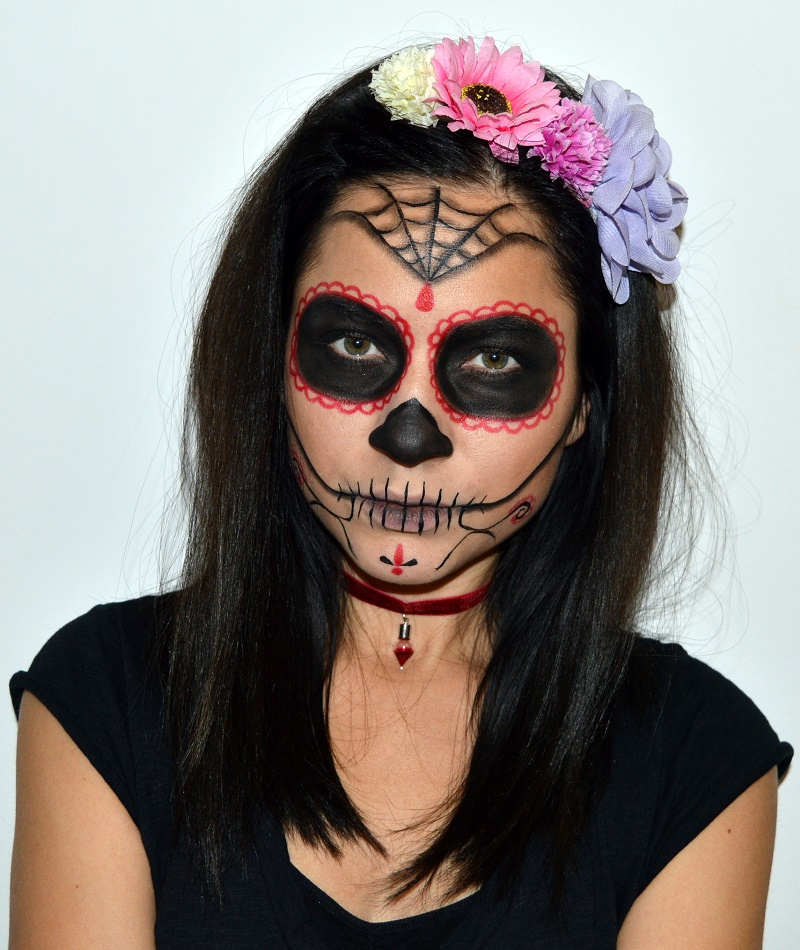 halloween make up sugar skull - dia de los muertos