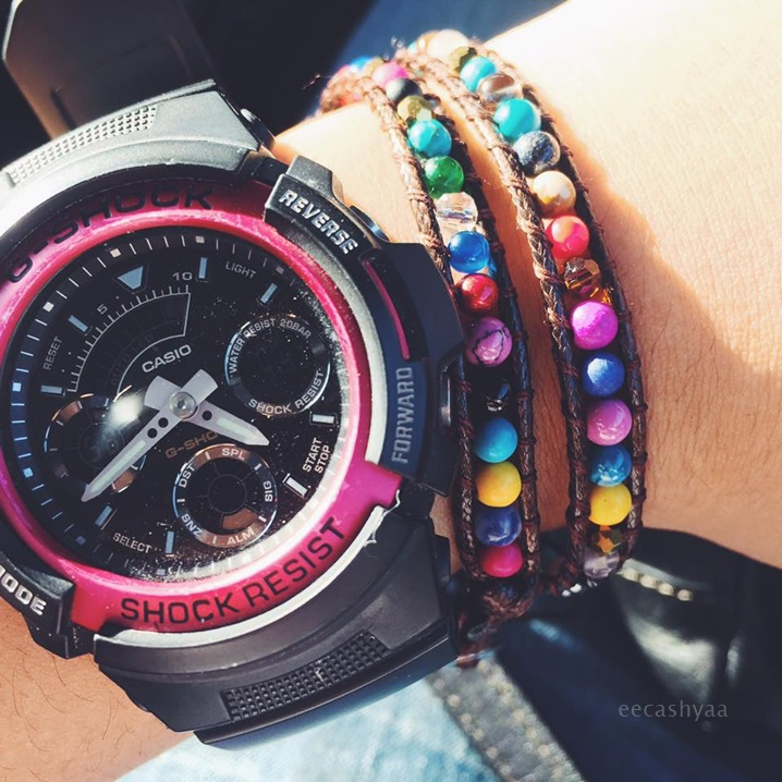 long beaded bracelet