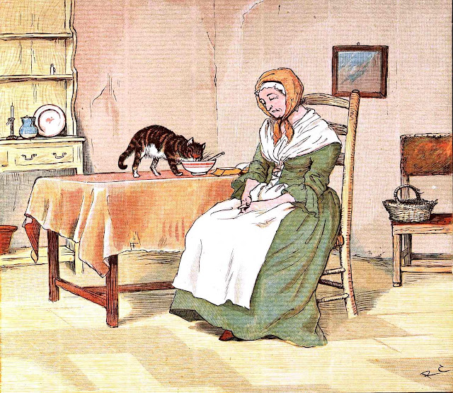 Randolph Caldecott, cat steals food