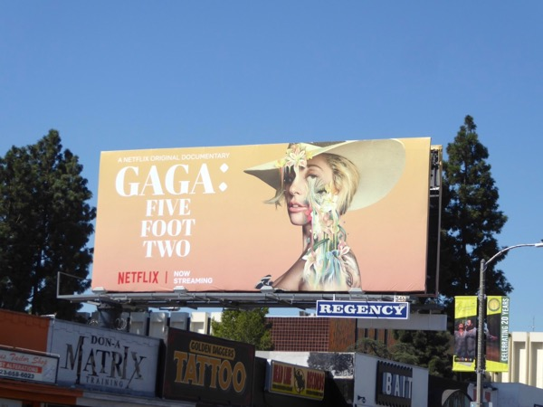 Gaga Five Feet Two Netflix billboard