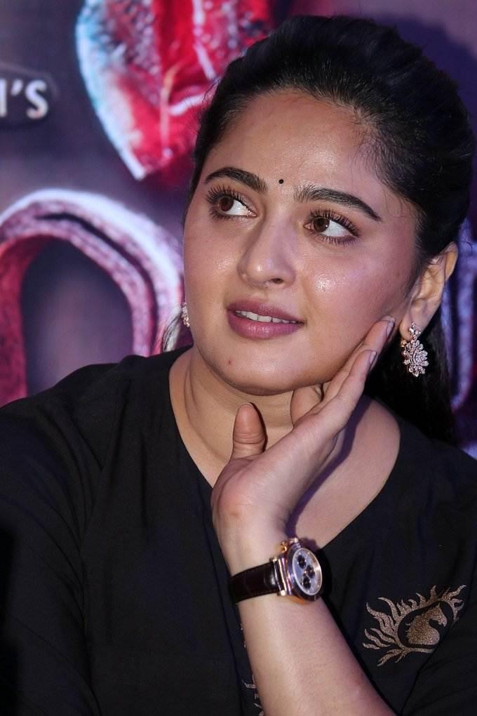 Anushka Shetty Photos At Baahubali 2 Press Meet In Chennai