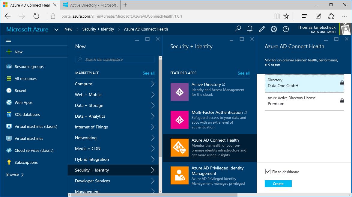 Microsoft Azure: Erweitertes Identity Management in der Cloud - Data