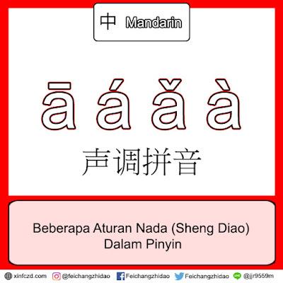 Beberapa Aturan Nada (Sheng Diao) Dalam Pinyin