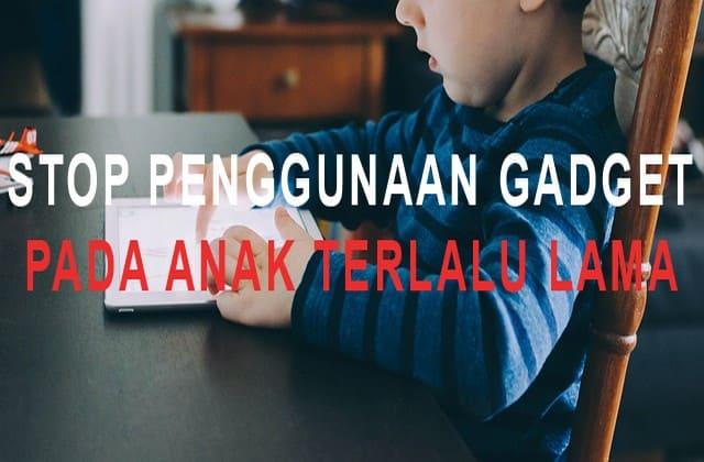 Tega Tidak Tega, Orang Tua Harus Berani Menghentikan Penggunaan Gadget
