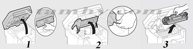 Cách thay mực máy in Canon MF211 / MF212W / MF221d / MF215 / MF217W/ MF226DN tại nhà đơn giản.