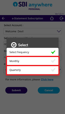 how to get monthly e statement from sbi bank