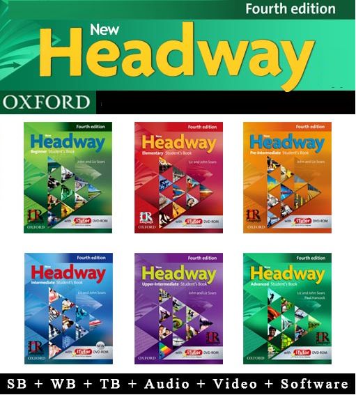New Headway Fourth Edition - SB,WB,TB,Audio,Video,Software