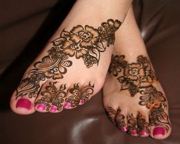 Leg Mehndi Simple : Mehndi designs legs pictures new