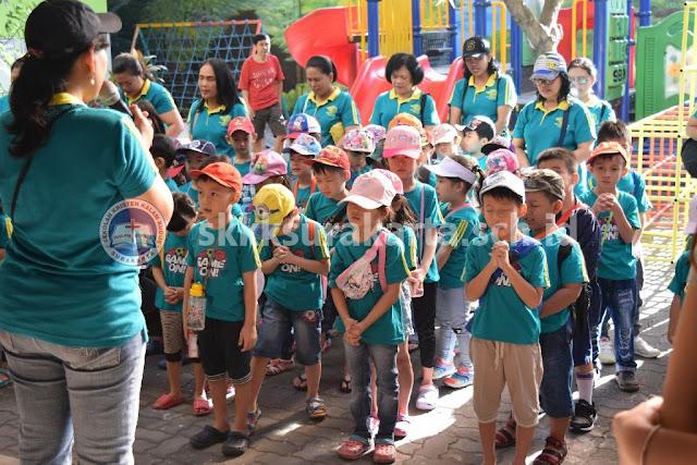 Siswa TK Kalam Kudus Sehari di Rumah Atsiri, Tawangmangu