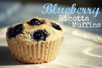 Healthy Blueberry Ricotta Muffins