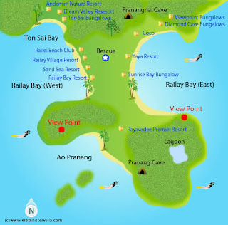 Mapa de Railay.