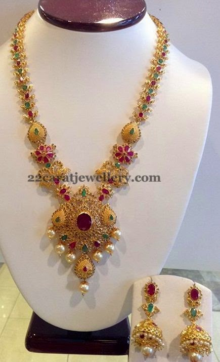 Colorful Haram By Shree Jewellers Jewellery Designs
