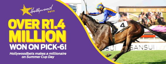 R1.4 Million Pick 6 Win on Sansui Summer Cup day at Hollywoodbets