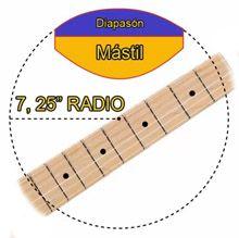 Radio Vintage del diapasón de una Guitarra Stratocaster