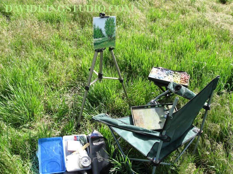 art painting pastel plein air gear easel box