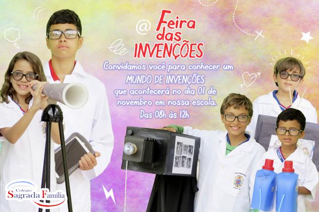 Sagrada Família promove Feira das Invenções nesta terça-feira (01/11)