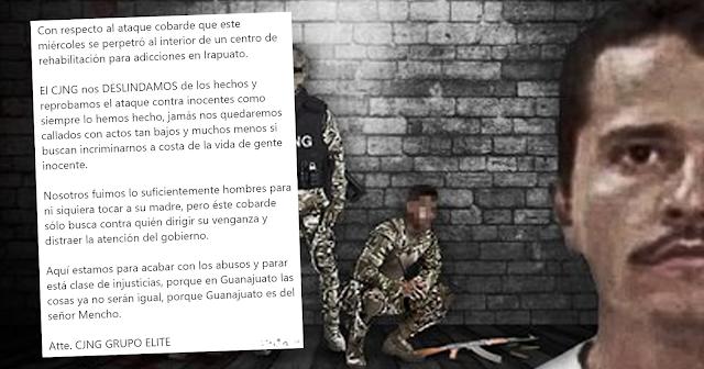 Comunicado Publico del CJNG sobre la masacre en Irapuato